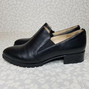 Nine West LAZYDAY Black Leather Pointed Toe Loafer